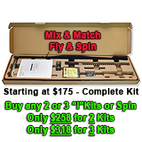 Xi Spinning Rod Building Kit - 6' 4-piece Light - Microwave Guides Option